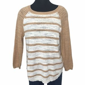 J.Crew Striped Knit Ragland Sleeve Sweater C4